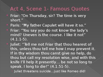 Romeo and Juliet- Act 4 Guided Notes Powerpoint