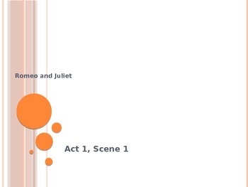 Romeo and Juliet- Guided Notes Powerpoint for Acts 1-3