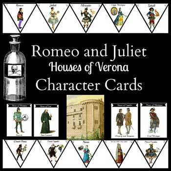 Romeo and Juliet Houses of Verona Character Memory Game and Review Cards