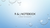 Romeo and Juliet Interactive Notebook