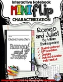 Romeo and Juliet Character and Characterization Flip Book