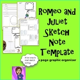 Romeo and Juliet Interactive Notes, Graphic Organizers, Sketch Notes