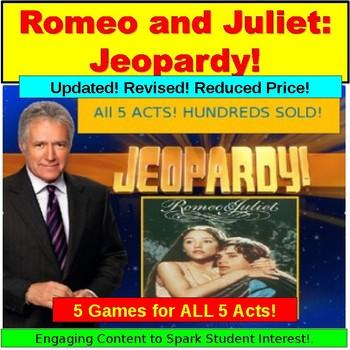 Romeo and Juliet JUMBO: 5 Jeopardy Power Points