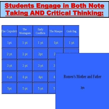 Romeo and Juliet JUMBO: 5 Jeopardy PowerPoints