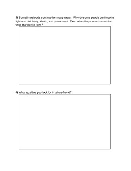 Romeo and Juliet Journal Questions