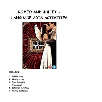 Romeo and Juliet - Language Arts Activities
