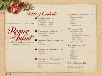 Romeo and Juliet Lead-Ins to Literaure