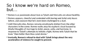 Romeo and Juliet Lecture