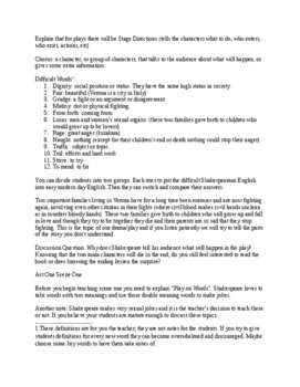 Romeo and Juliet - Lesson Plans