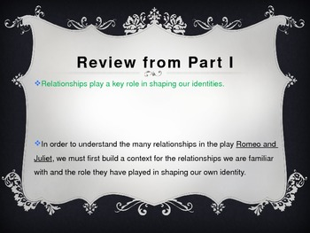 Romeo and Juliet Lessons (PowerPoint)