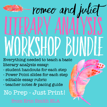 Romeo and Juliet Literary Analysis Writing Workshop Bundle
