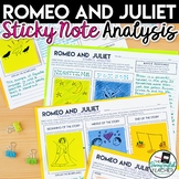 Romeo and Juliet: Literary Analysis with Sticky Notes