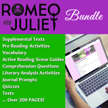 romeo and juliet literature guide common core aligned complete rh teacherspayteachers com Tertiary Source Primary and Secondary Sources Examples