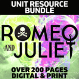Romeo and Juliet Literature Guide: Complete Unit PACKET   DISTANCE LEARNING