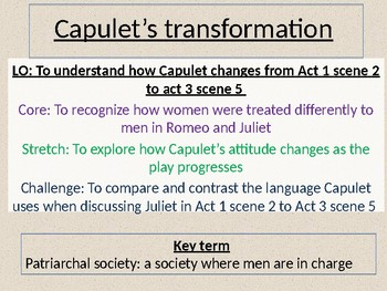 Romeo and Juliet: Lord Capulet's transformation