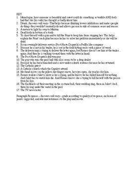Romeo and Juliet Luhrman Movie Worksheet 3