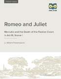 Romeo and Juliet: Mercutio and the Death of the Festive Clown