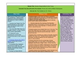 Romeo and Juliet Model Content Framework
