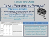 "Romeo and Juliet ""Movie Adaptation Analysis"""