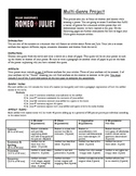 Romeo and Juliet Multi Genre Project Handout