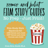 Romeo and Juliet No-Prep Film Study Guides
