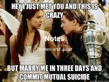 Romeo and Juliet Notes 9th, 10th, 11th, 12th