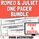 Romeo and Juliet Digital and Print Activities | One Pagers