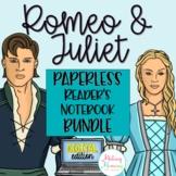 Romeo and Juliet Digital Reader's Notebooks (Paperless)