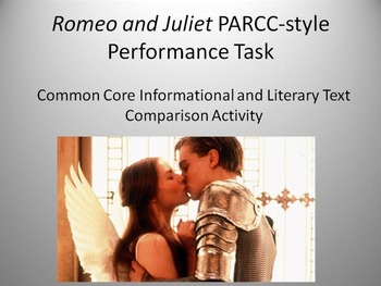 Romeo and Juliet PARCC-style Learning Task - FREE DOWNLOAD!!