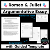 Romeo and Juliet Argumentative Essay Template - Who is Responsible?
