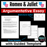 Romeo and Juliet Argumentative Essay Template - Who is Res