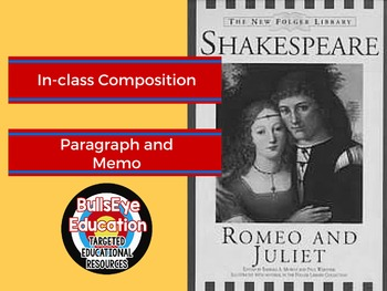 Romeo and Juliet Write A Memo Based on Plot