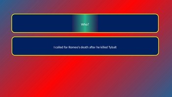 Romeo and Juliet Pointless Quiz