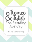 Romeo and Juliet Pre-Reading Activity