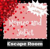 Romeo and Juliet - Pre Reading Escape Room
