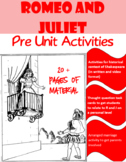 Romeo and Juliet Pre-Unit Activities