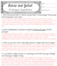 Romeo and Juliet Prologue Activities for Differentiated Learning