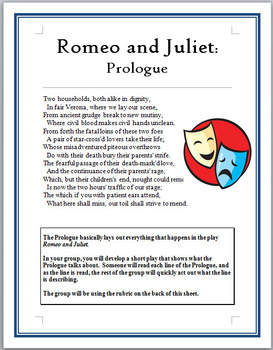 how the prologue in romeo and Actually understand romeo and juliet prologue read every line of shakespeare's original text alongside a modern english translation.
