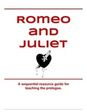Romeo and Juliet Prologue Activity