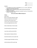 Romeo and Juliet Prologue Analysis Worksheet