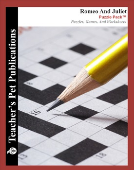 Romeo and Juliet: Puzzle Pack - Crosswords, Worksheets, Games