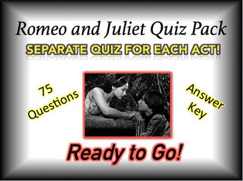 Romeo and Juliet Quiz Bundle