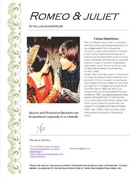 Romeo and Juliet Quotation Quiz