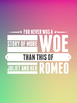 Romeo and Juliet Quote Posters