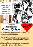 Romeo and Juliet - Quote Quizzes by Act