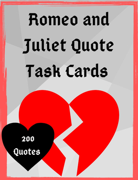Romeo and Juliet Quote Task Cards