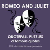 Romeo and Juliet - Quotefall puzzles