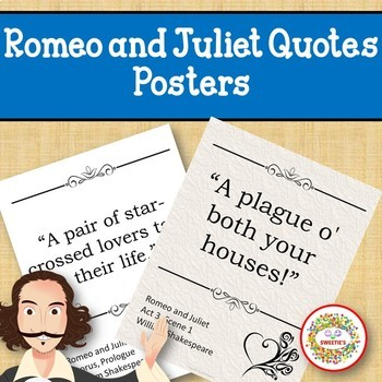 Romeo and Juliet Quotes Posters