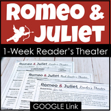 Romeo and Juliet Reader's Theater Performance Activity with Google Link