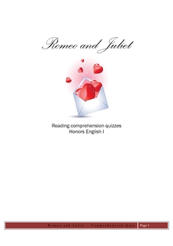 Romeo and Juliet Reading Comprehension Quizzes
